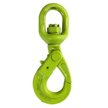 6mm GR 10 SWIVEL AUTOLOCK HOOK 1.5T winch recovery wire rope lifting chain 4 x 4